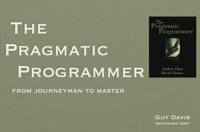 The Pragmatic Programmer: کتابی برای دولوپرهای علاقمند به حرفهای شدن
