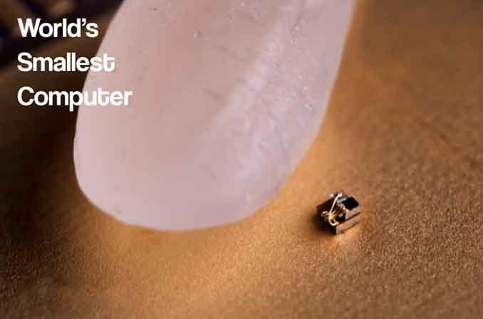 کوچکترین کامپیوتر جهان (حتی کوچکتر از یک دانهٔ برنج)